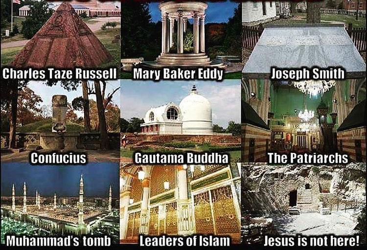 Religious leaders burial sites except Jesus