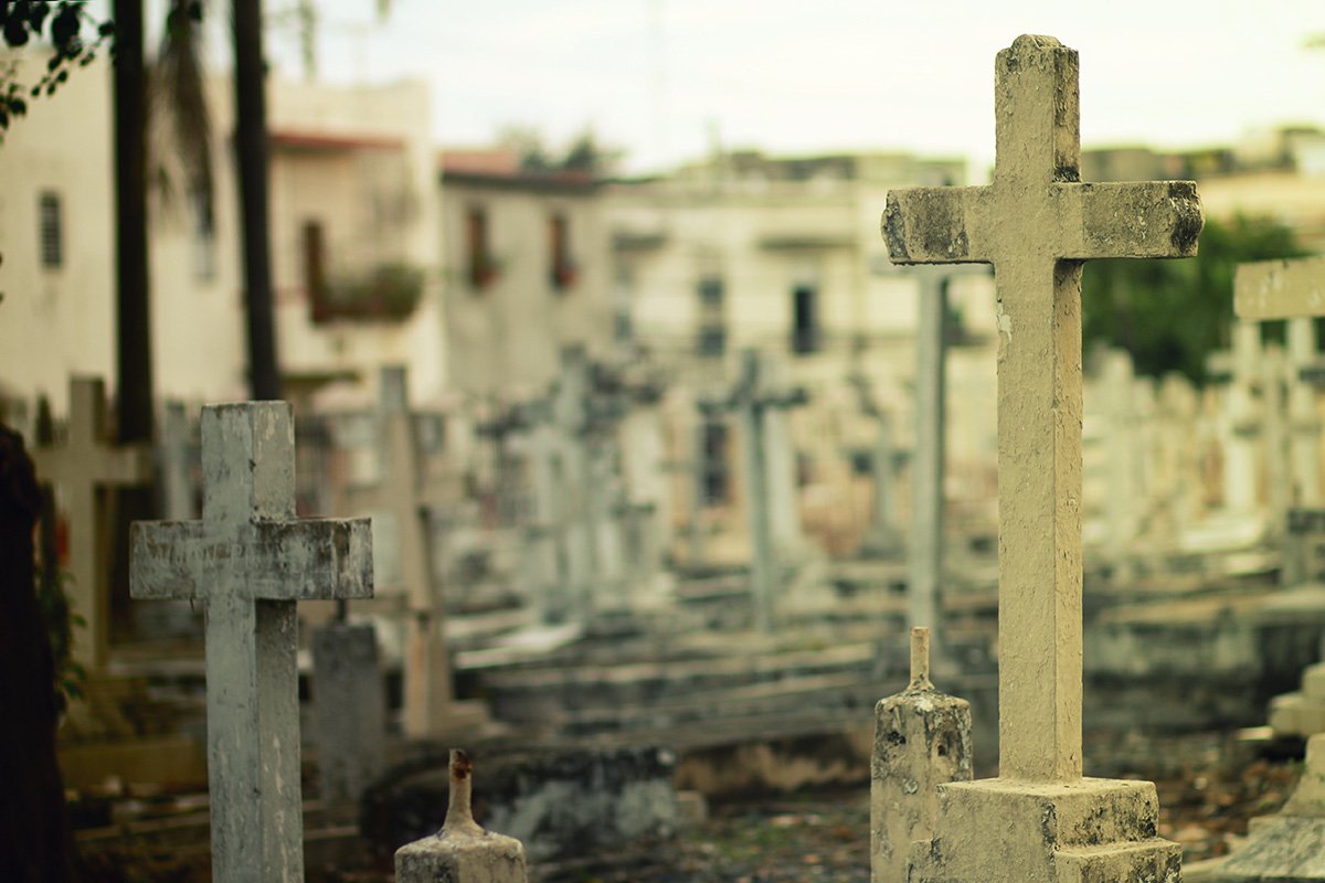 What happens after death? Cemetery and graveyard